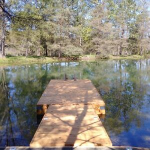 Floating Dock made from reclaimed Cedar, demo unit.