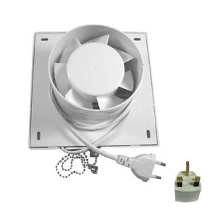 4 Square Exhaust Fan Extractor Ventilation Fan For Bathroom Kitchen Wall Window Ebay