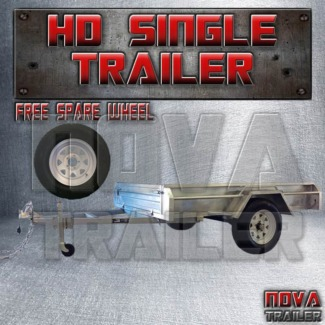 7x4 ⌁GALVANISED brandNEW single axle NOCAGE heavy duty trailer