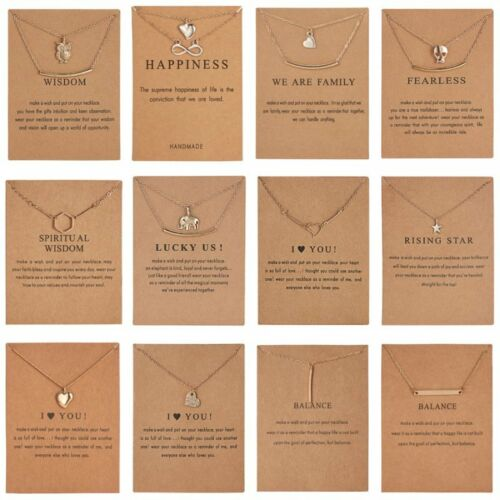 Jewellery - Fashion Women Animal Heart Necklace Charms Pendant Clavicle Chain Jewelry Card