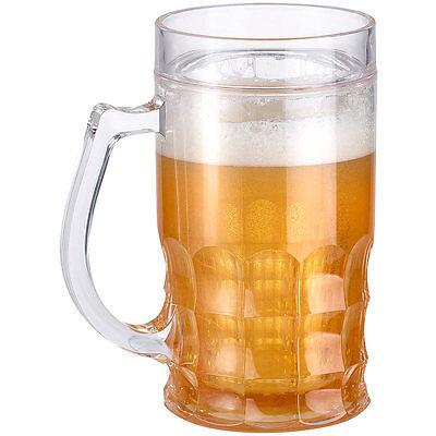 Bier Glas: Doppelwandiger Bierkrug, Bier- & Getränke-Kühler mit Fake-Bier, 0,3 l