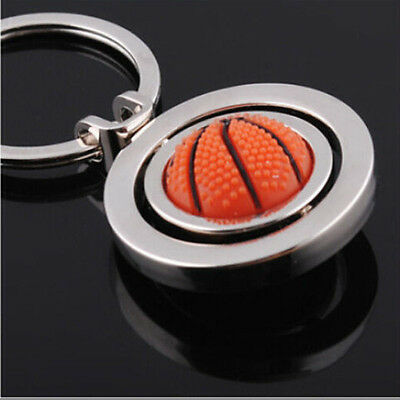 Cute 3D Sports Rotating Basketball Keychain Keyring Key Chain Ring Key Fob Ball