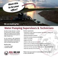 Water Pumping  Supervisors & Technicians