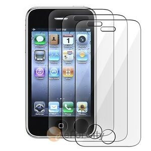 3X Clear Screen LCD Protector For Apple iPhone 3G 3GS