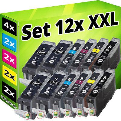 12x PATRONEN CHIP für CANON IP3300 IP3500 IP4200 IP5200R IP4300 IP4500 MP970 SET online kaufen