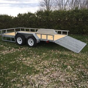 *REDUCED* NEVER USED 14' GALVANIZED TANDEM UTILITY TRAILER