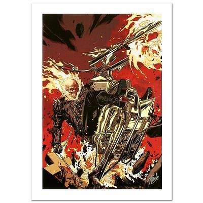 STAN LEE signed GHOST RIDER Marvel ORIGINAL COMIC Artworks Canvas AVENGERS COA