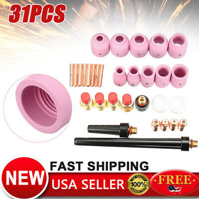 31x Tig Welding Torch Gas Lens Accessory Kit For Wp-92025 Weldcraft Mph