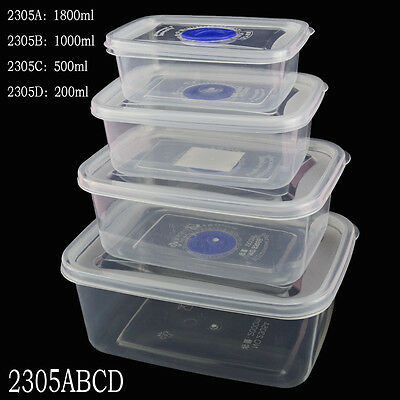Small Medium Large Size Plastic Clear Storage Food Box Container With Lid New - Small Containers With Lids
