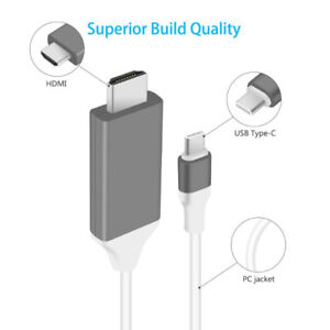 (Sealed Pack)USB C to HDMI Cable, 2m High Speed Ultra HD Type C