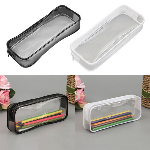 Clear Pencil Case Makeup Pouch Bag with Zipper for Stationer