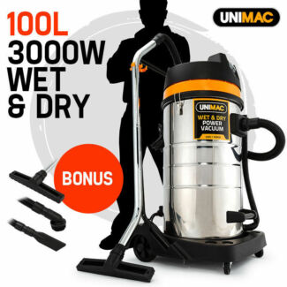 Wet & Dry Vacuum Cleaner 100L 3000W Commercial Grade Vac Drywall Seven Hills Blacktown Area Preview