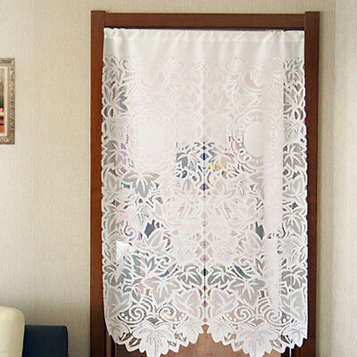 Lace Door Curtain (French Country Lace Cutwork Door Window Curtain Panel Kitchen Room Divider)