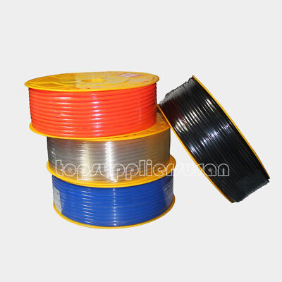 200m Pneumatic Red Polyurethane Pu Hose Tube Od 18 656 Ft Air Pipe