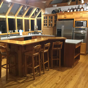 Kitchen cabinets w/corian counters and appliances
