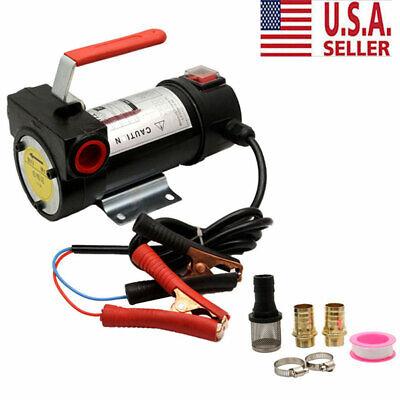 12v Dc Electric Fuel Transfer Pump Kerosene Oil Diesel Commercial Auto Usa