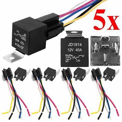 5 Pcs DC 12V 40A 5 Pin Coche SPDT Automotive Relés con...