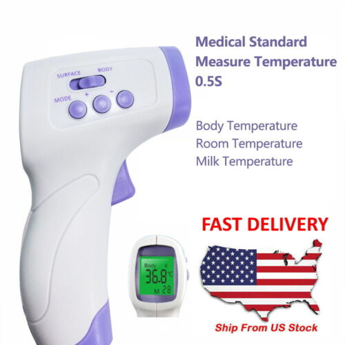 Digital Infrared Non-Contact Forehead + Surface Temperature Gun Body Thermometer
