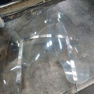 Harley King Windscreen, Chrome Supports