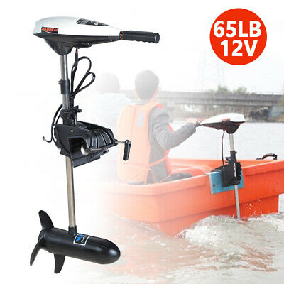660W 65LBS 12V Electric Outboard Motor Inflatable Fishing Boat Engine HANGKAI