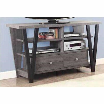 """Coaster 701015-CO 60"""" Tv Stand In Distressed, Grey/Black"""