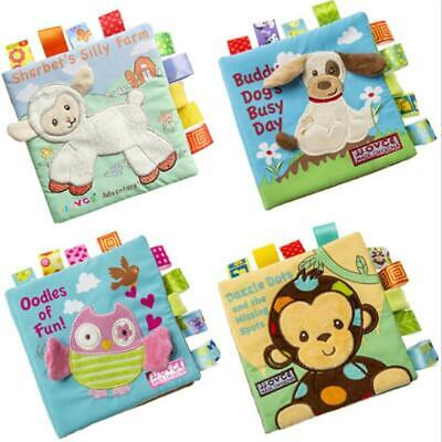 Cute Animal Puppy Monkey Story Book Kid Educational Soft Cloth Cognize Book 6L (Puppy Monkey)
