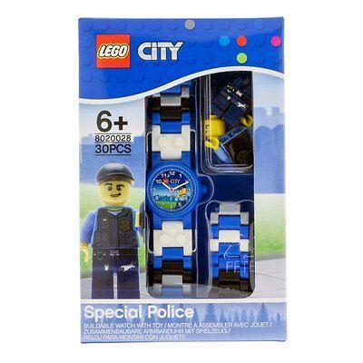 Jungen Kinder LEGO City Kinder-Armbanduhr Analog Quarz Mehrfarbig
