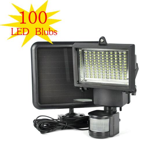 Outdoor 100 SMD LED Solar Powered Motion Sensor Security Light Flood GardenLa
