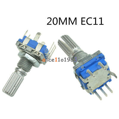 2510pcs Rotary Encoder With Switch Ec11 Audio Potentiometer 20mm Handle