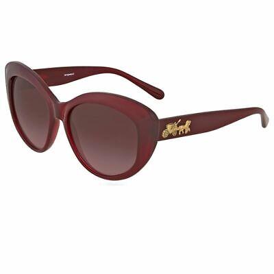 Coach Sunglasses Burgundy w/Burgundy Gradient Lens Burgundy Gradient Lens