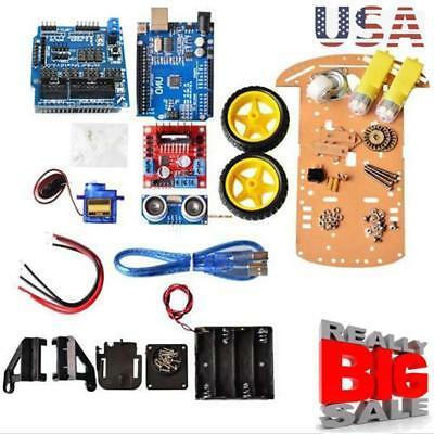 Smart Car Tracking Motor Smart Robot Chassis Kit 2wd Ultrasonic For Arduino Mcu