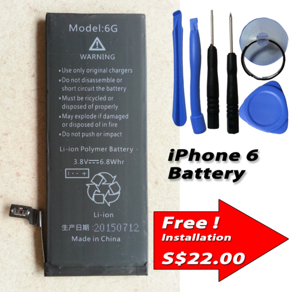 Apple iPhone 6 Internal Battery Capacity: 1800mAh include Tools Kits 616-0805 616-0809