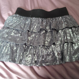 Children's Place silver skirt