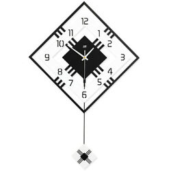 Modern Decorative Swing Pendulum Wall Clock Bedroom Living Room Clocks