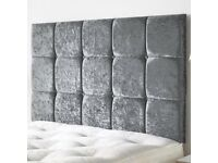 FREE Delivery FREE Extra High Designer Headboard PREMIUM QUALITY MATTRESS -6 Colours Double Bed King