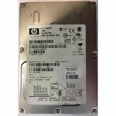 HP 73GB, 10K RPM, SCSI, U320 68 pin - 364325-001 73gb 10k Rpm U320 Scsi