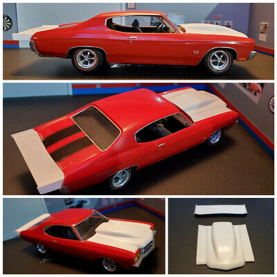 Resin Rear Spoiler & Bubble Hood Combo for '70 Chevlle AMT.  for sale  Shipping to India