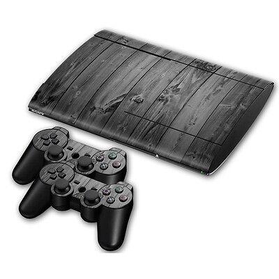 PS3 PlayStation 3 Super Slim Skin Design Aufkleber Schutzfolie Set - Grey...
