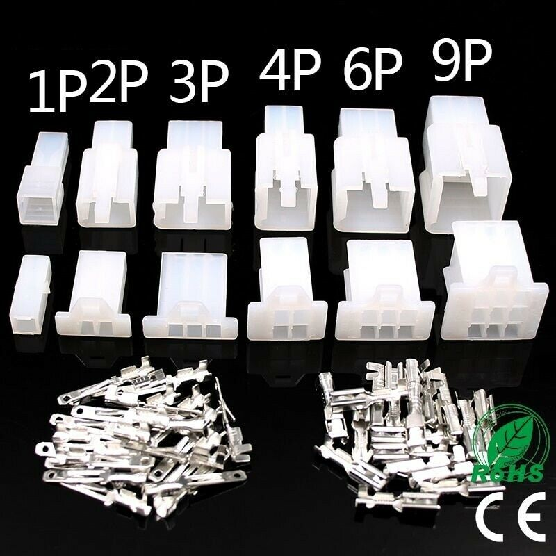 6p 4Pin Male /& Female Panel Chassis Connector Kit C146