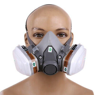 6200 6001 5n11 501 7pcs Suit Respirator Painting Spraying Face Gas Mask Size M