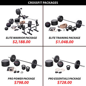 Set Crossfit Package Weight Kettlebell Plate Olympic Barbell
