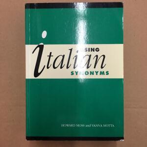 "BRAND NEW ""Using Italian Synonyms"""