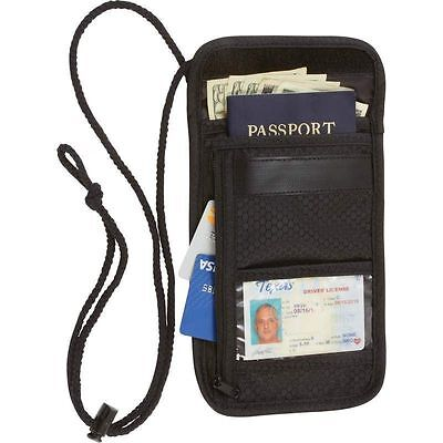 Travel Security Passport ID Holder w/ Neck Strap, Transparent Cover Mens Wallet ()