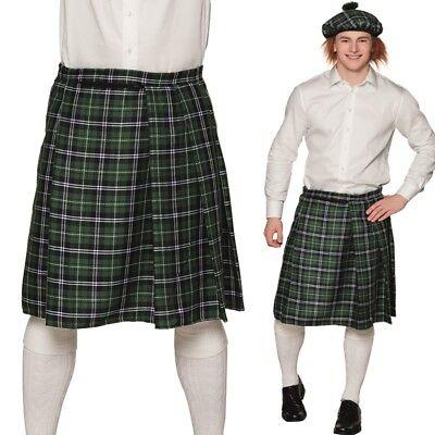 Finley SCHOTTENROCK Kilt grün kariert von L-XL Herren Rock Gothic - Schotte Kostüm