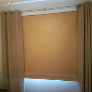 Tan blackout blind