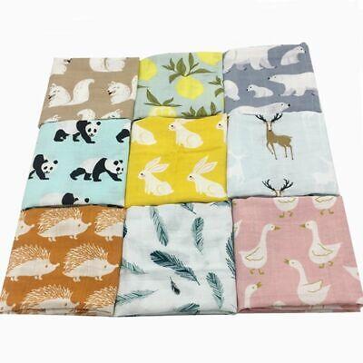 Cotton Baby Blankets Newborn Soft Organic Swaddle Bath Feed Towel Sleeping Scarf
