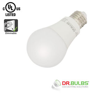 Dr.Bulbs A19 9W 4000K Cool White Dimmable LED Bulb $3 EACH