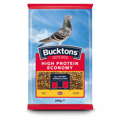 Bucktons High Protein Economy Pigeon Feed - Economical Racing Food Mix - 20kg