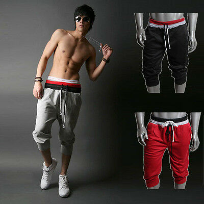 Leisure Men Sport Sweat Pants Shorts Harem Dance Baggy Jogging Training Trousers