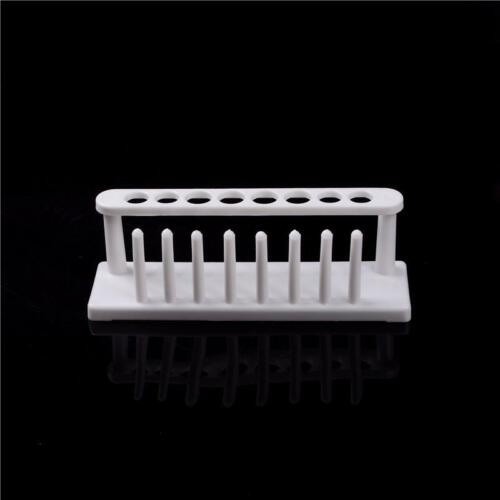 8Holes Plastic Test Tube Rack Testing Tubes Holder Storage Stand Lab Supplies bg